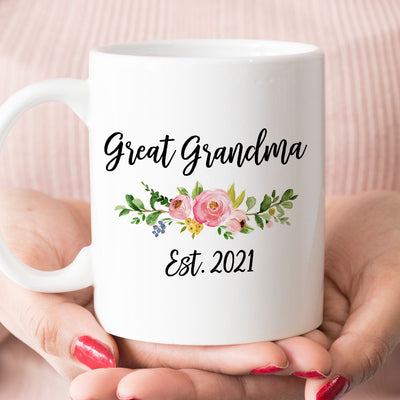 Great Grandma est 2020 or 2021 new grandma gift, Grandma mug (M1711)