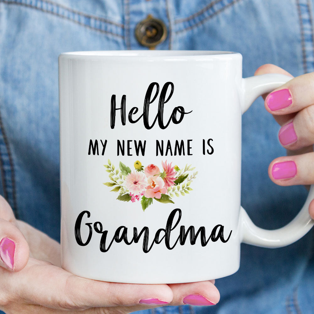 Hello My New Name is Grandma Mug (M522)