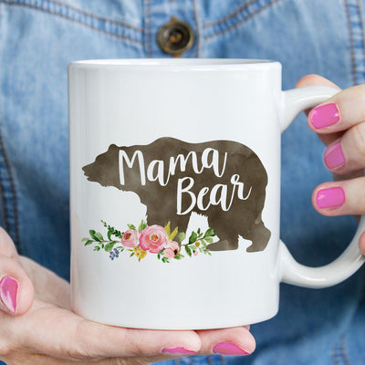 Mama Bear Mug, New Mom Gift (M525)