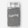 Personalized kids blanket, Gray boys name (KB107-GRAY)