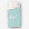 Personalized kids blanket, Mint girls name (KB112-MINT)