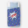 Personalized kids blanket, Blue super hero (KB120-DARK)