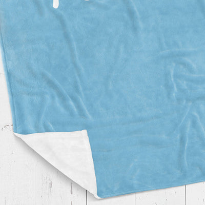 Personalized kids blanket, Blue boys name (KB107-BLUE)