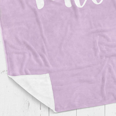 Personalized kids blanket, Purple girls name (KB112-PURP)