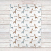 Giraffe Fleece Personalized Baby Boy Blanket (BB263)