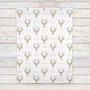 Deer floral personalized baby girl blanket (BB299)