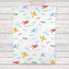 Airplane Personalized Baby Blanket (BB310)