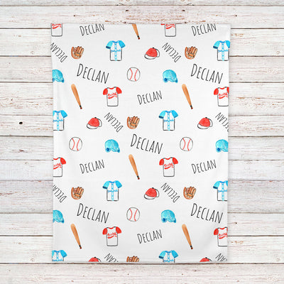 Baseball Personalized Baby Blanket (BB320)