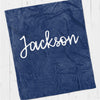 Personalized kids blanket,  Navy boys name (KB107-NAVY)
