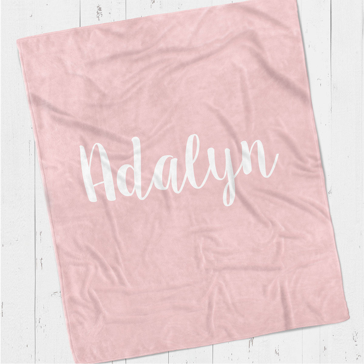 Personalized kids blanket, Pink girls name (KB112-PINK)