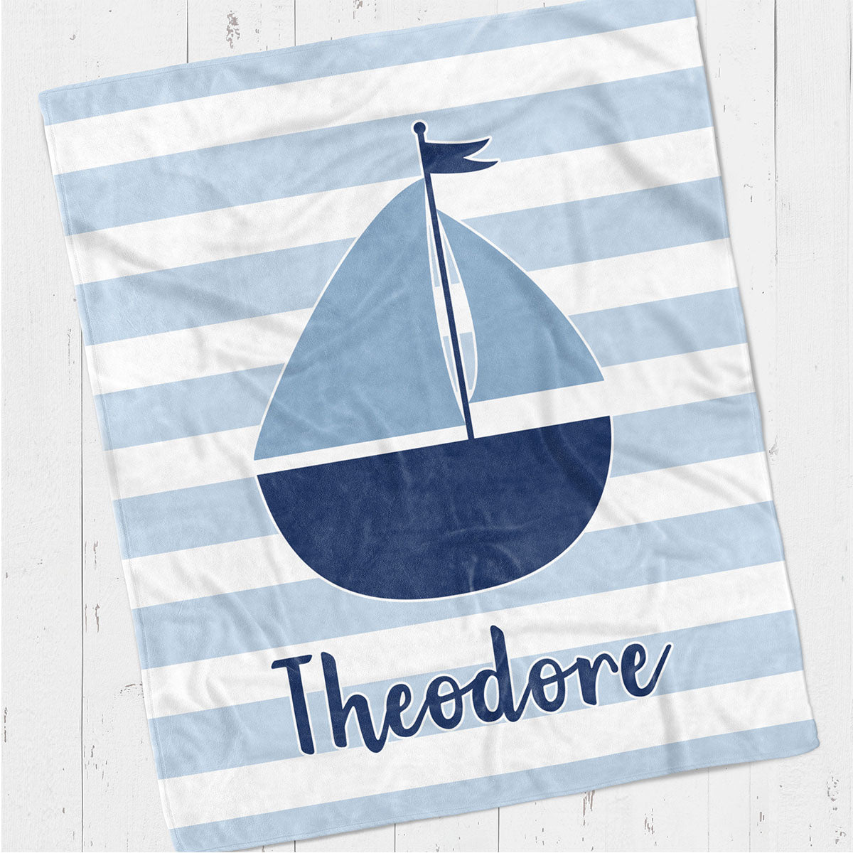 Personalized kids blanket, Nautical boat (KB117)