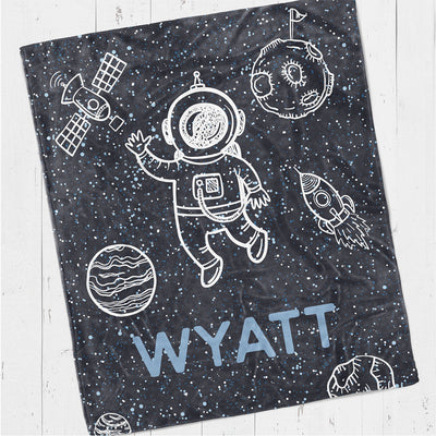 Personalized kids blanket, Outer space (KB119)