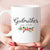 Godmother est 2018 or 2019 Coffee Mug, New Godmother Pregnancy Announcement Gift (M455)
