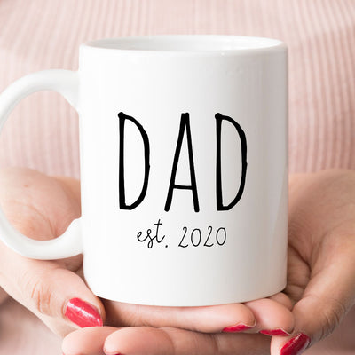 Dad est 2020 Coffee Mug, New Dad Gift (M1715)
