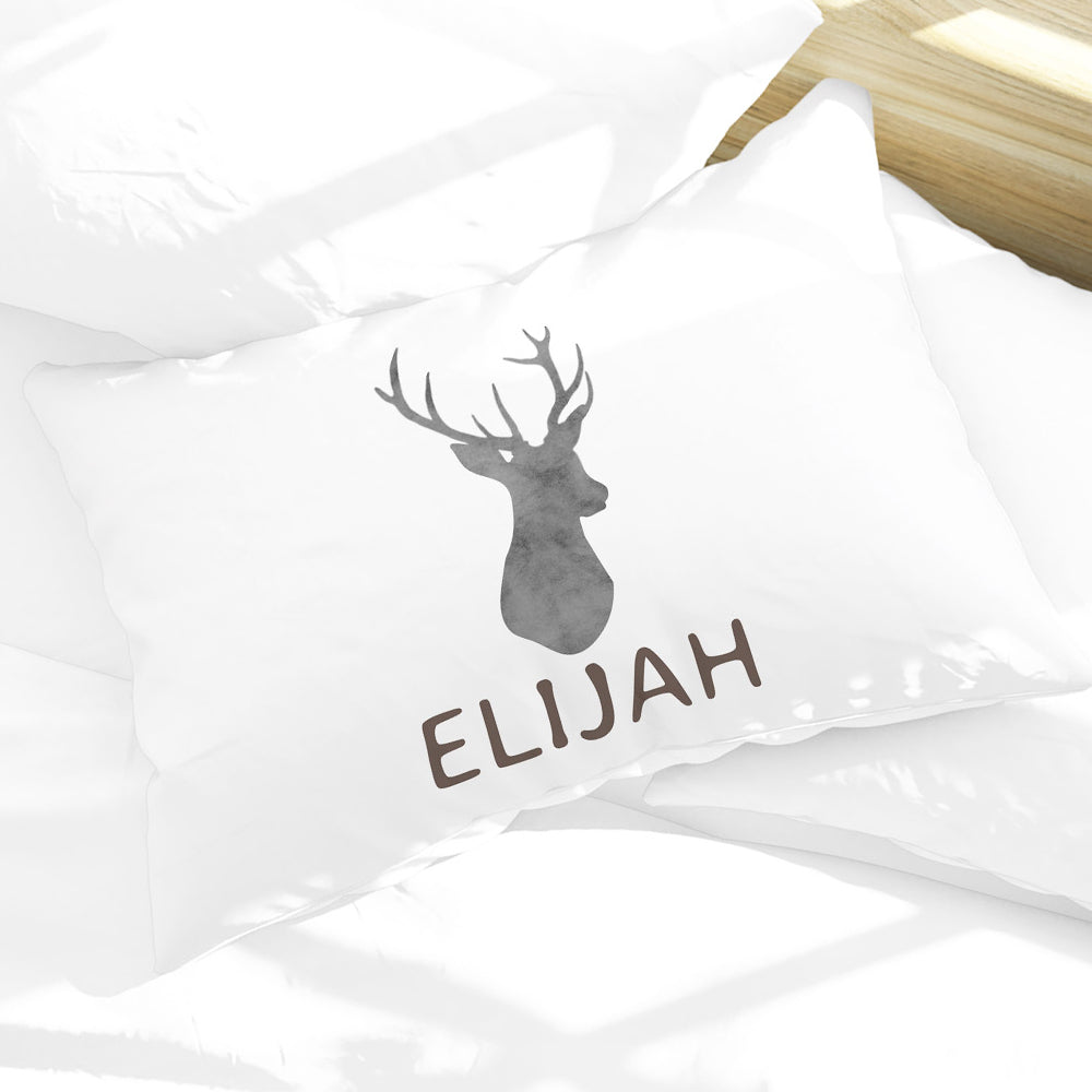 Personalized Deer Woodland Kids Name Pillow Case 30