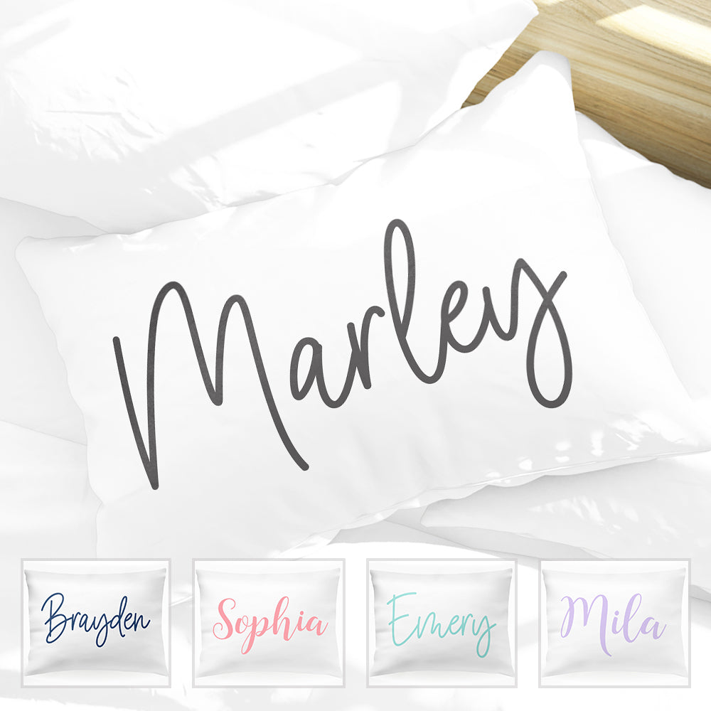 Personalized Signature Name Kids Pillow Case 30