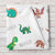 Personalized Dinosaur Watercolor Print Baby Name Blanket (BB114)