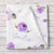 Personalized Floral Baby Girl Name Blanket, Purple watercolor print (BB117)