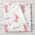 Personalized Coral Deer Baby Girl Blanket, Woodland nursery décor (BB229)