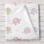 Personalized Elephant Fleece Baby Blanket, Pink Shabby Chic Girls print (BB247)