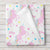 Unicorn Fleece Baby Blanket Personalized , Pink and rainbow star print (BB248)