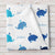 Whale Fleece Personalized Baby Boy Blanket (BB251)