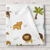 Jungle Animals Personalized Baby Blanket (BB258)