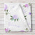Personalized Baby Girl Name Blanket, Light purple floral  (BB300)