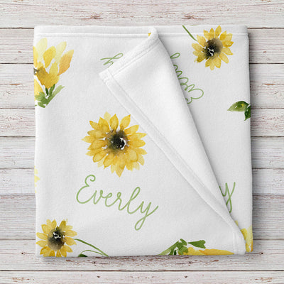 Sunflower Personalized Baby Blanket (BB311)
