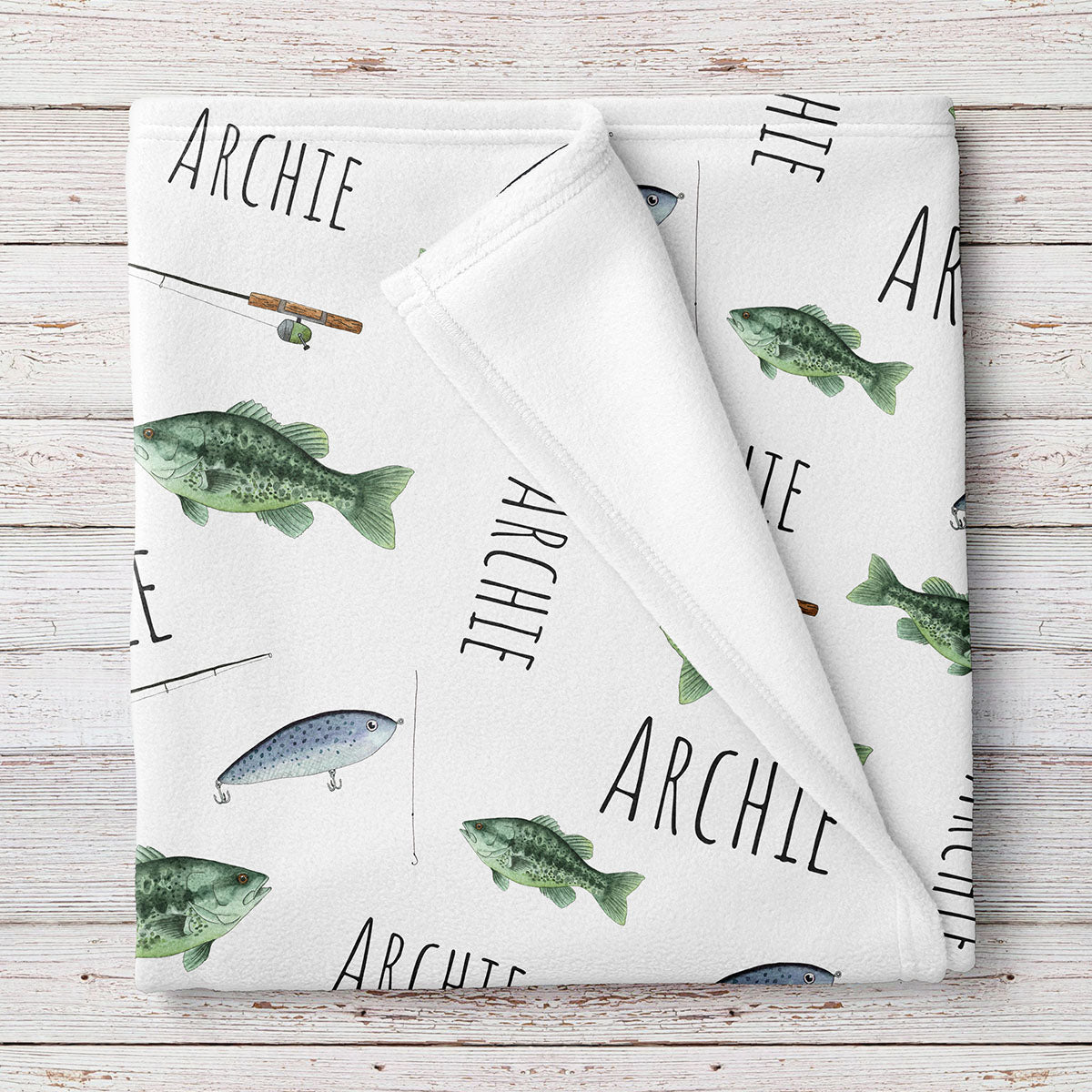 Fishing Personalized Baby Blanket (BB312)