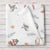 Woodland Animals Personalized Baby Girl Blanket (BB317)