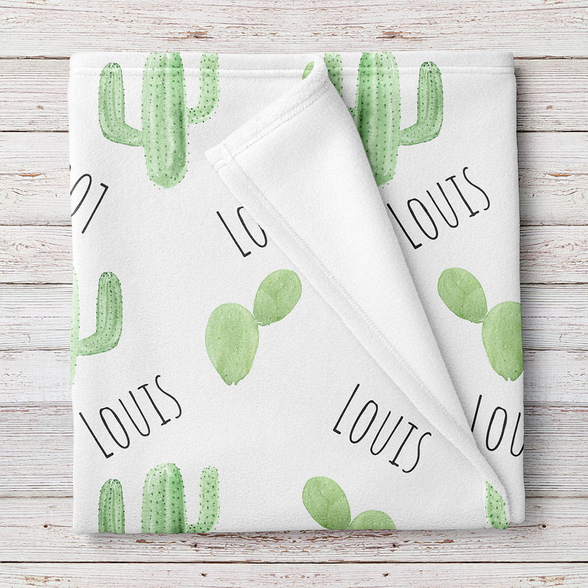 Cactus Personalized Baby Blanket (BB318)