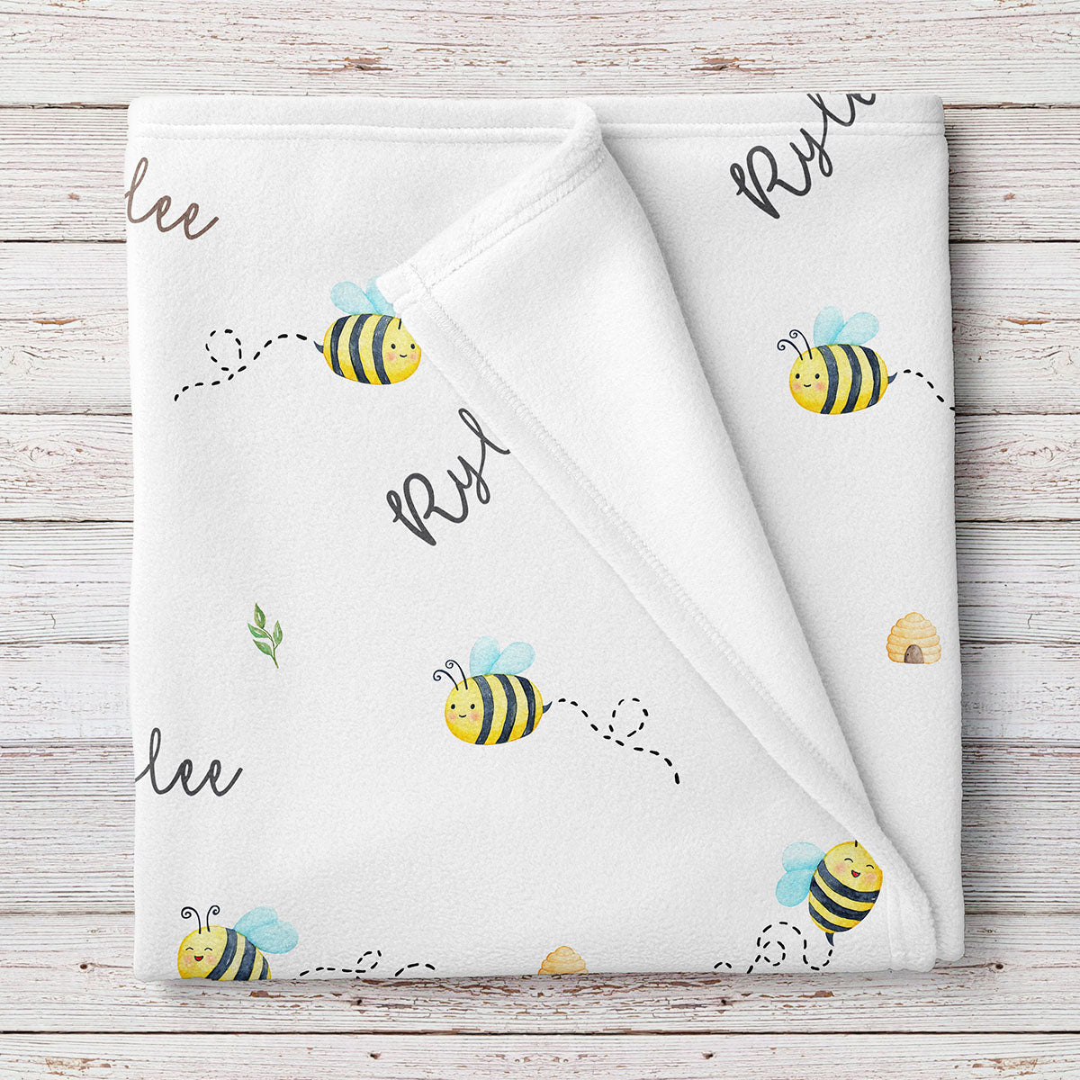 Bees Personalized Baby Blanket (BB324)