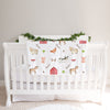 Farm Animals Personalized Baby Blanket (BB306)
