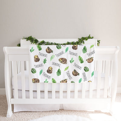 Sloth Personalized Baby Blanket (BB313