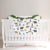 Bears and Mountains Personalized Baby Blanket (BB323)