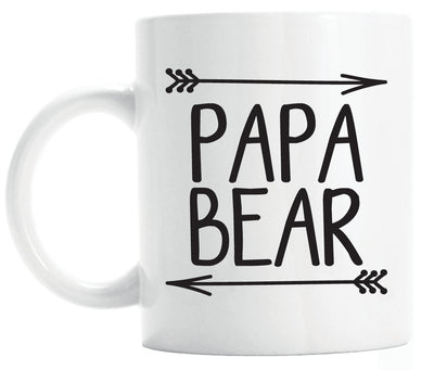 Papa bear mug, gift for new dad (M166)