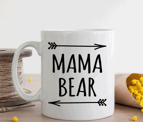 Mama bear mug, gift for new mom or mom to be (M168)