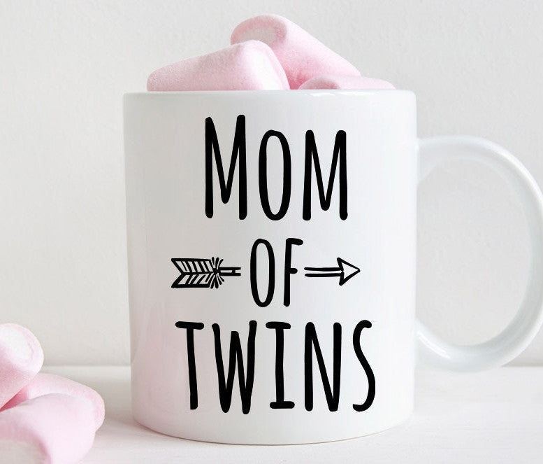 Mom of twins mug, new mom gift (M375)