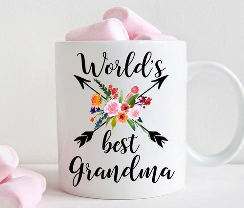 Grandma Coffee Mug, World's Best Grandma gift (M458)
