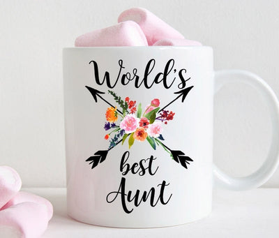 Aunt Coffee Mug, World's Best Aunt Gift(M460)