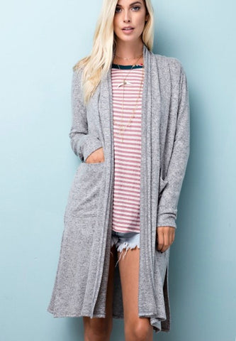Cozy Cardigan- Gray