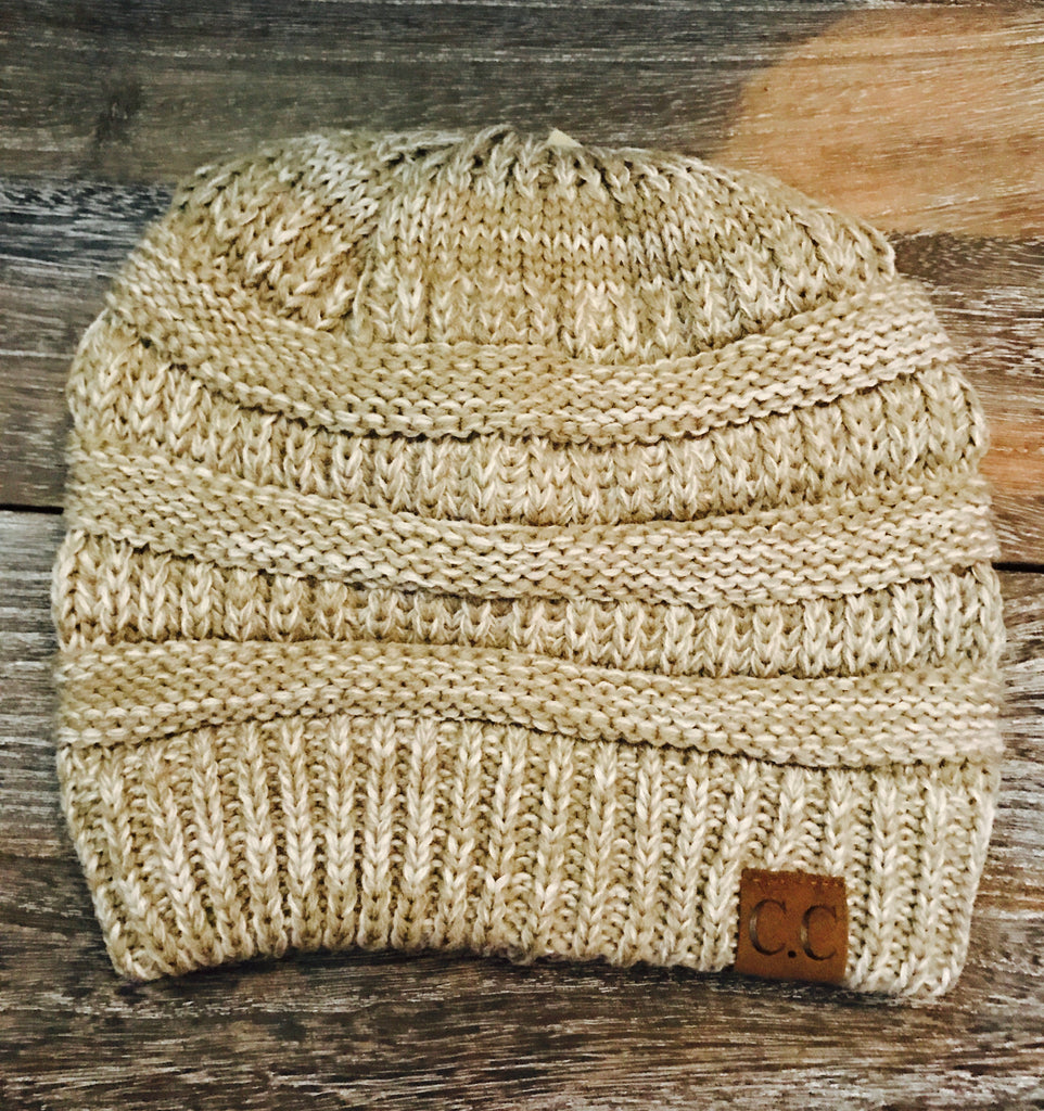 CC Beanie- Heather Tan