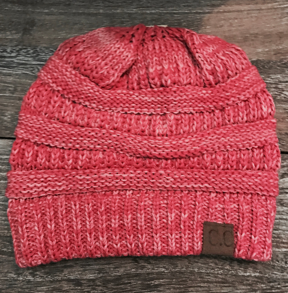 CC Beanie- Heather Hot Pink