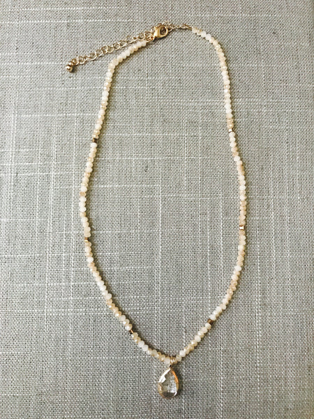 Teardrop Necklace- Cream