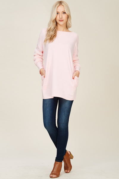 Fur Trimmed Sweatshirt Tunic
