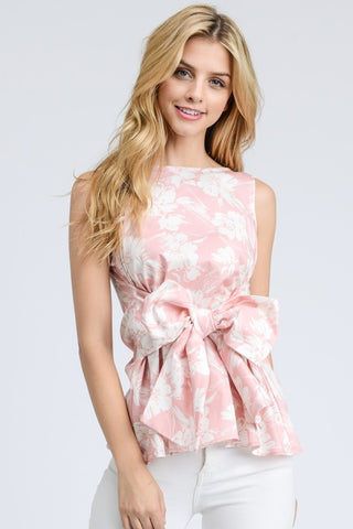 Pretty in Floral Sleeveless Top
