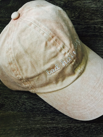 Bad Hair Day Hat- Dusty Pink