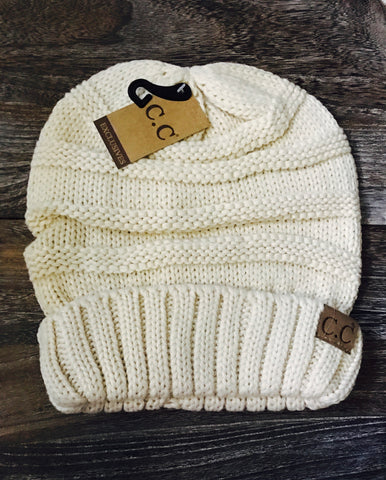 Oversized CC Beanie- Natural