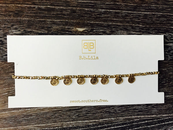 Money Honey Choker- Amber